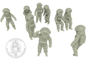 Vintage Moon Astronauts Set /  1:144 in Smoothest Fine Detail Plastic