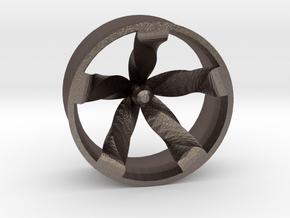 Mc'wheel in Polished Bronzed Silver Steel