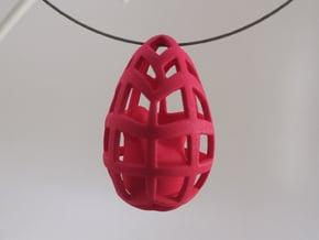 Egg before Chicken - Pendant in White Processed Versatile Plastic