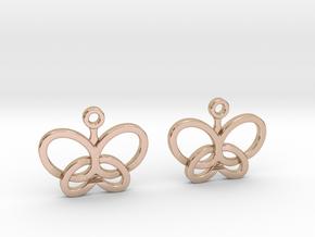 Custom Logo Earrings in 14k Rose Gold Plated Brass