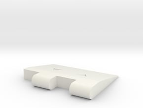 Transformers TR Angle Ramp End in White Natural Versatile Plastic