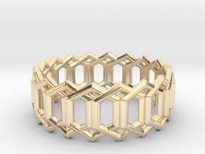 Geometric Ring 4- size 7 in 14K Yellow Gold