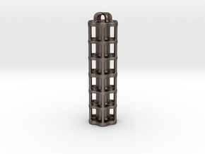 Tritium Lantern 5E (3x50mm/stacked 3x25mm Vials) in Polished Bronzed Silver Steel