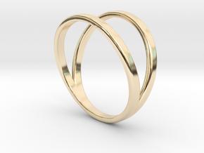 Split Ring Size 13 in 14k Gold Plated Brass