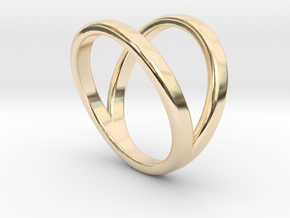 Split Ring Size 5 in 14k Gold Plated Brass