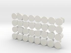 Horde Alliance Chess in White Natural Versatile Plastic