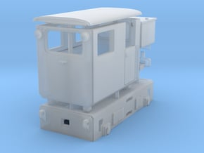 Tunneling battery locomotive H0e in Smooth Fine Detail Plastic