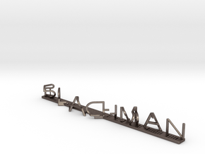 MR Dr Ruben Blachman in Polished Bronzed Silver Steel