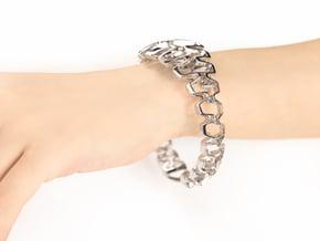 HD Bracelet, Medium Size, d=65. Strong, Bold, Uniq in Rhodium Plated Brass: Medium