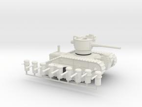 15mm AQMF MERRIMACK HEAVY TANK in White Natural Versatile Plastic