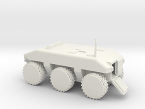 Police SWAT Armored Vehicle in White Natural Versatile Plastic