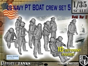 1/35 US Navy PT Boat Crew Set5 in Smooth Fine Detail Plastic