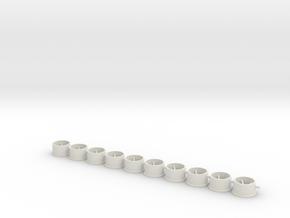 Flachfelge 11x6x238 in White Natural Versatile Plastic