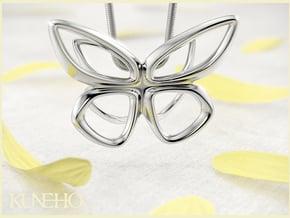 Cepora Butterfly Pendant in Fine Detail Polished Silver
