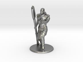 Jaffa Guard Firing his Zat - 20mm tall in Natural Silver