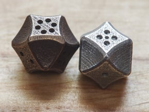 Futuristic Die in Polished Bronzed Silver Steel