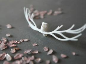 Owl pendant in White Natural Versatile Plastic