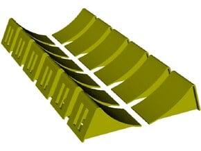 1/35 scale wheel chocks x 12 in Smooth Fine Detail Plastic