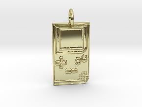 Game Boy 1989 Pendant in 18k Gold Plated Brass