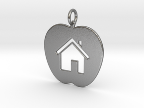 House Keychain and Pendant in Natural Silver