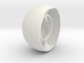 100mm EyeRig Eyeball in White Natural Versatile Plastic