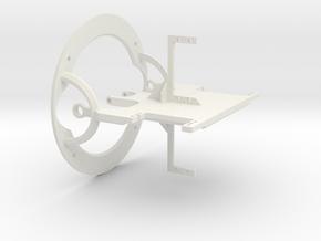 100mm Main plate in White Natural Versatile Plastic
