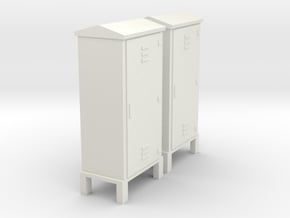 Electrical Cabinet With Legs 1-87 HO Scale in White Natural Versatile Plastic