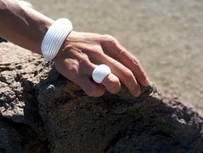 OvalBracelet in White Processed Versatile Plastic