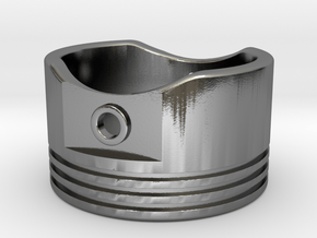 Piston - US Size 12.5 in Polished Silver