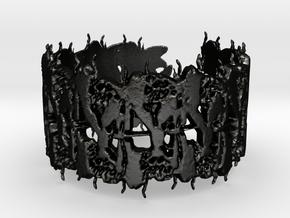 entomology bracelet in Matte Black Steel