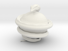 World Serpent in White Natural Versatile Plastic