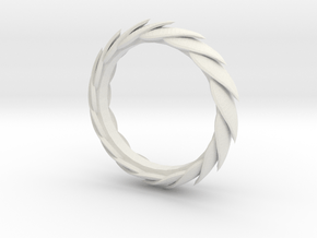 Leaf Bracelet in White Natural Versatile Plastic