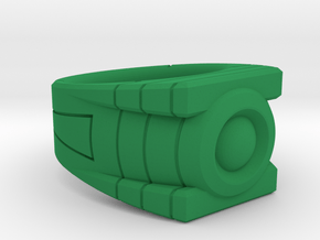 Size 9 Green Lantern Ring in Green Processed Versatile Plastic
