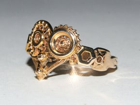 Mech Heart Ring in Polished Bronze: 6 / 51.5