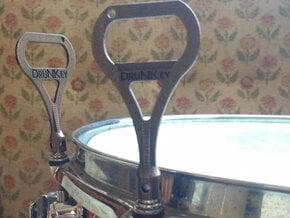 DruNKey v2.0 - A Drum Key Bottle Opener in Polished Bronze Steel
