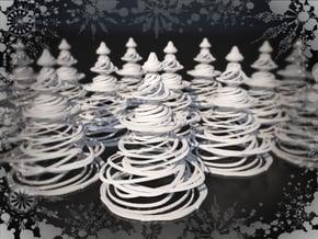 Swirly Christmas Tree in White Natural Versatile Plastic