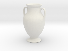 Urn 1f Scaled Subdivided in White Natural Versatile Plastic