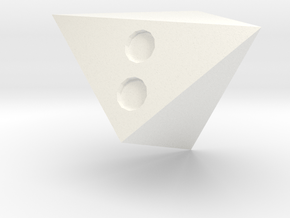 d3 summing hexahedron (pipped) in White Processed Versatile Plastic