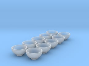 """10 1:48 12"""" Bowl in Smooth Fine Detail Plastic"""