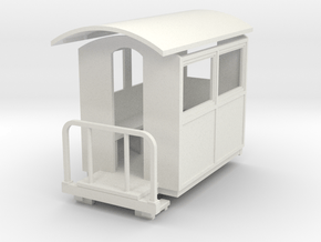 55n9 Small closed coach  in White Natural Versatile Plastic