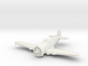 Curtiss P-36 'Hawk' in White Natural Versatile Plastic: 1:200