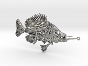 Bluegill With Fishhook in Natural Silver