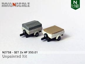 SET 2x HP 350.01 (N 1:160) in Smooth Fine Detail Plastic