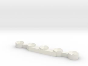 Dice Stand 5 D20 (MTG Spindowns) in White Natural Versatile Plastic: Medium