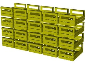 1/15 scale wooden crates x 20 in Smooth Fine Detail Plastic