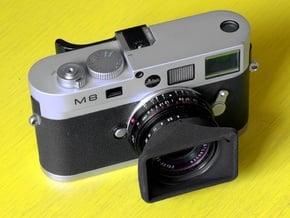 CV 25mm f4 Color Skopar Hood [+ VF Cutout] in Black Natural Versatile Plastic