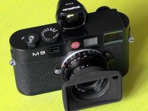 CV 21mm f4 [Mk2] Color Skopar Hood [+VF Cutout] in Black Natural Versatile Plastic