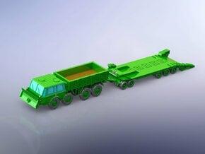 Czech Tatra 813 & P-50 Tank Trailer 1/220 Z-Scale in Smooth Fine Detail Plastic
