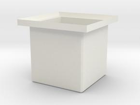Standard cargo Box in White Natural Versatile Plastic