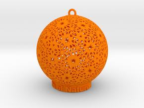 Knots Of Nature Ornament for lighting in Orange Processed Versatile Plastic